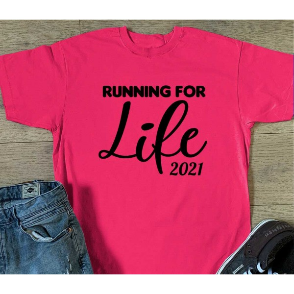Running For Life Sports T-shirt - Race For Life Charity Top | Sports Tech Top Printing